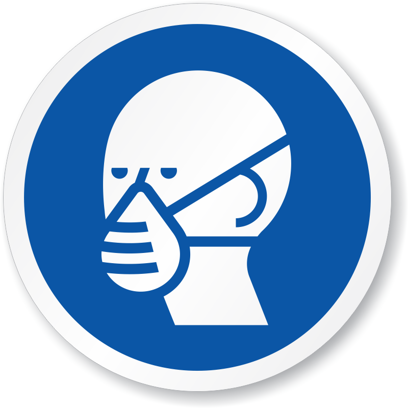 Wear Dust Respirator - ISO Mandatory Circle Sign, SKU: IS ...