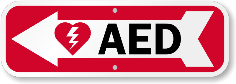 Aed Signs Automated External Defibrillator Signs Aed Wall Sign