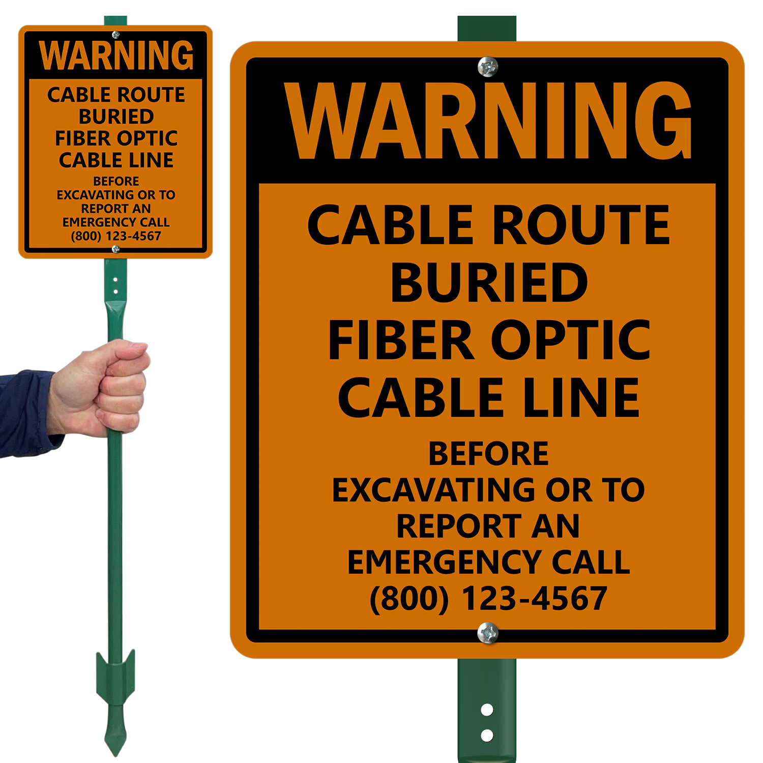 Buried Fiber Optic Cable Signs Fiber Optic Cable Signs