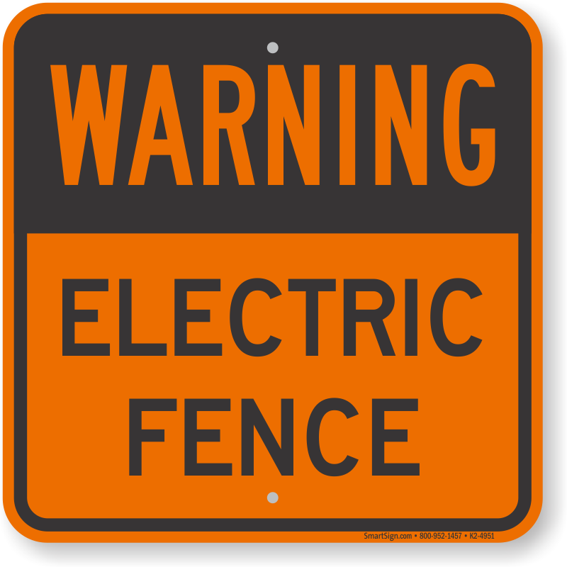 Barbed Wire Signs - MySafetySign.com