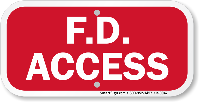 FD Access Sign