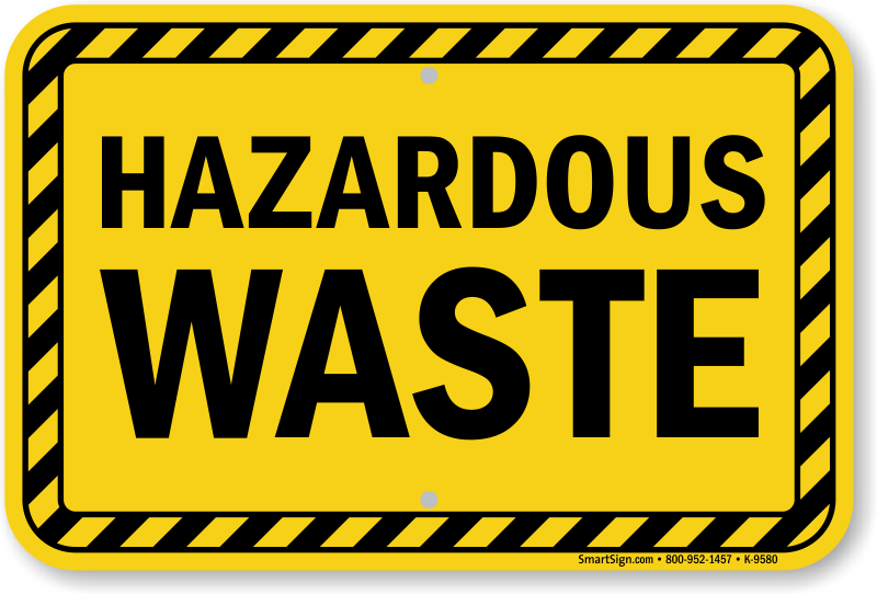 Image result for hazardous waste sign