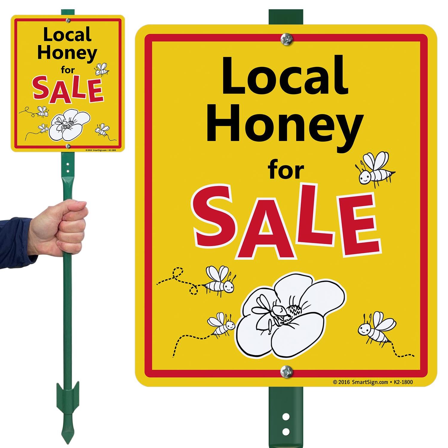 Local Honey For Sale Lawnboss Sign