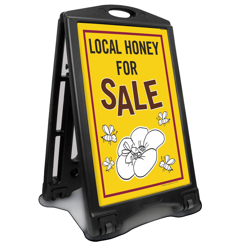 Local Honey For Sale Sidewalk Sign