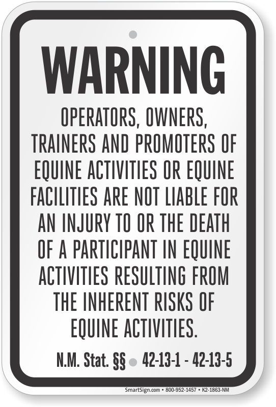 New Mexico Equine Sign