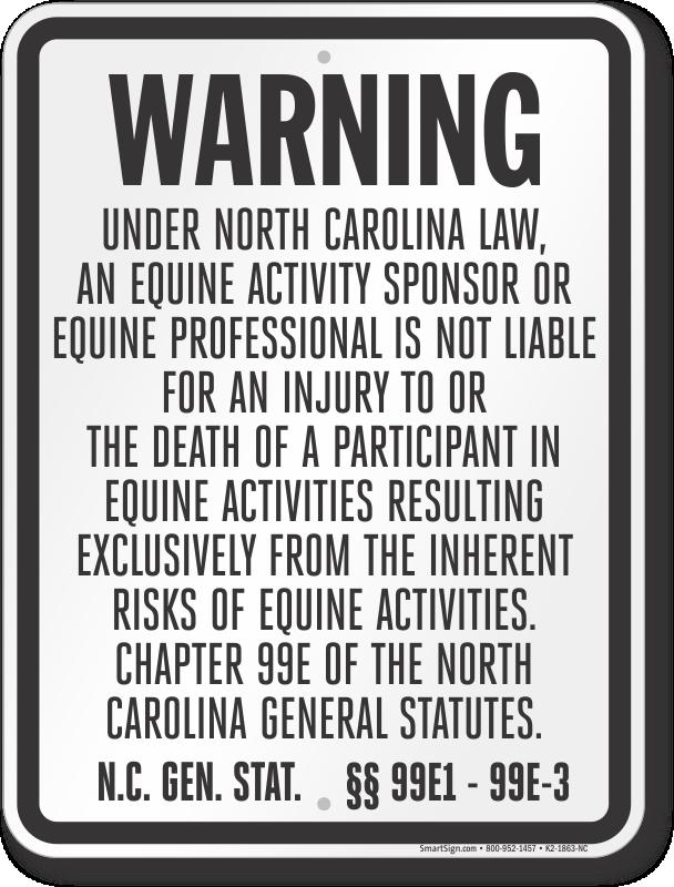 North Carolina Equine Sign