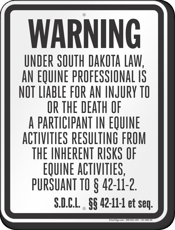 South Dakota Equine Sign