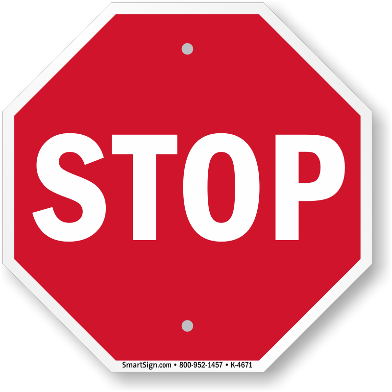 Mini STOP Sign - Many Size & Material Options, SKU: K-4671 ...