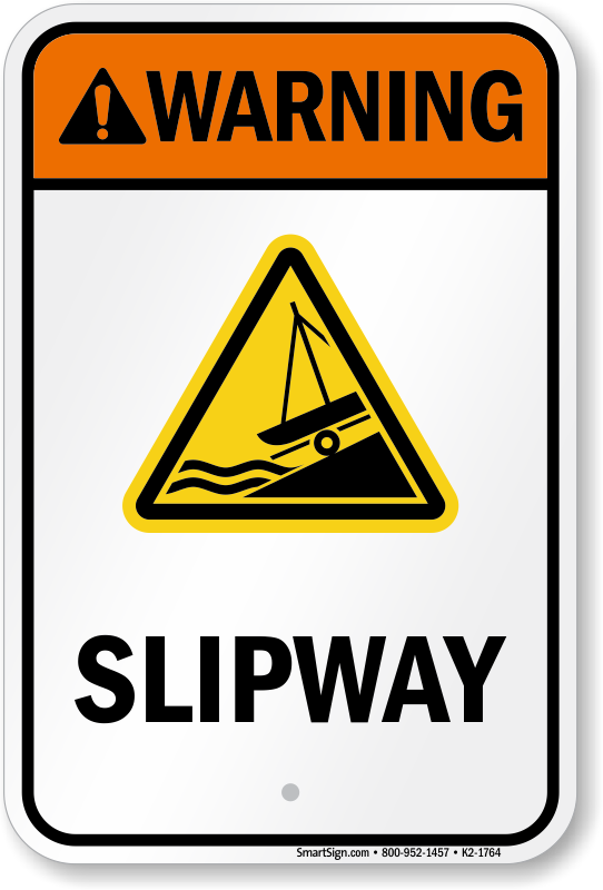 Warning Slipway Water Safety Sign