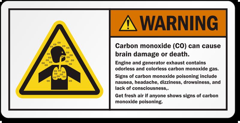 Liquid Hydrogen Carbon Monoxide Warnin...