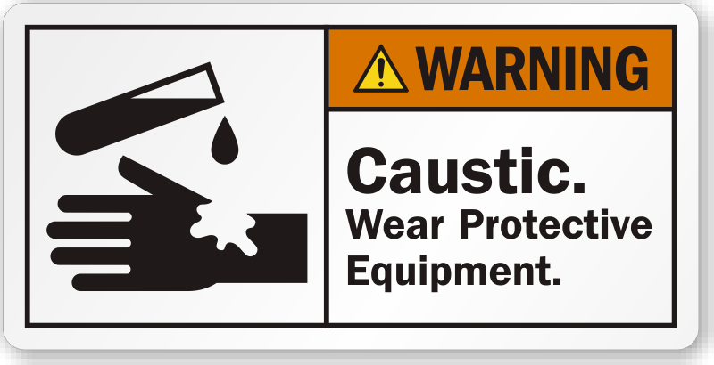 Caustic Danger Signs Guaranteed Best Prices