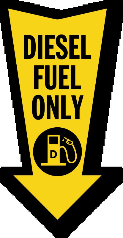 Diesel Fuel Only Arrow Safety Label, SKU: LB-4030 ...