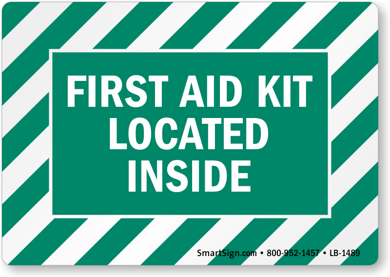 First Aid Kit Located Inside Label