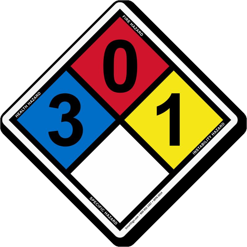 Hazard Diamond: NFPA 704 Diamond Signs