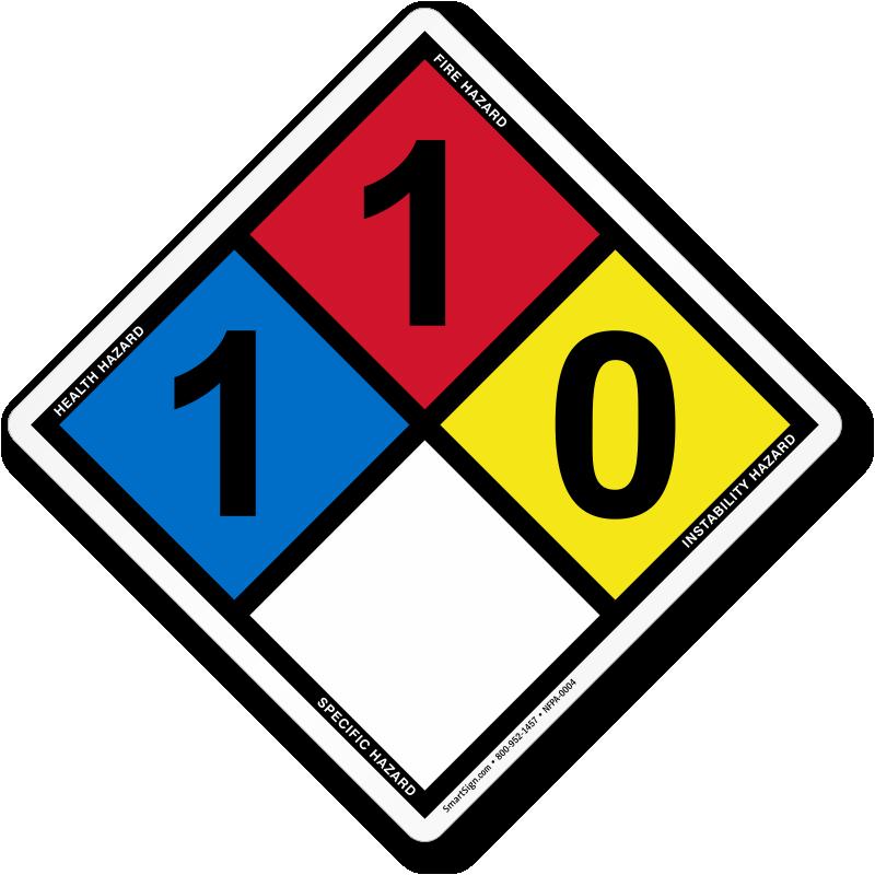 Hazardous Material Diamond: NFPA 704 Diamond Signs