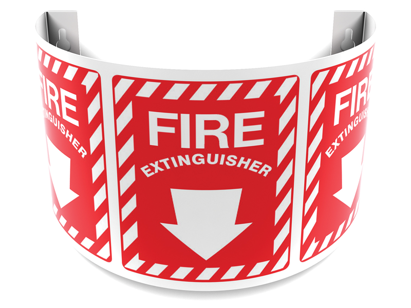 180 Degree Projecting Fire Extinguisher Sign