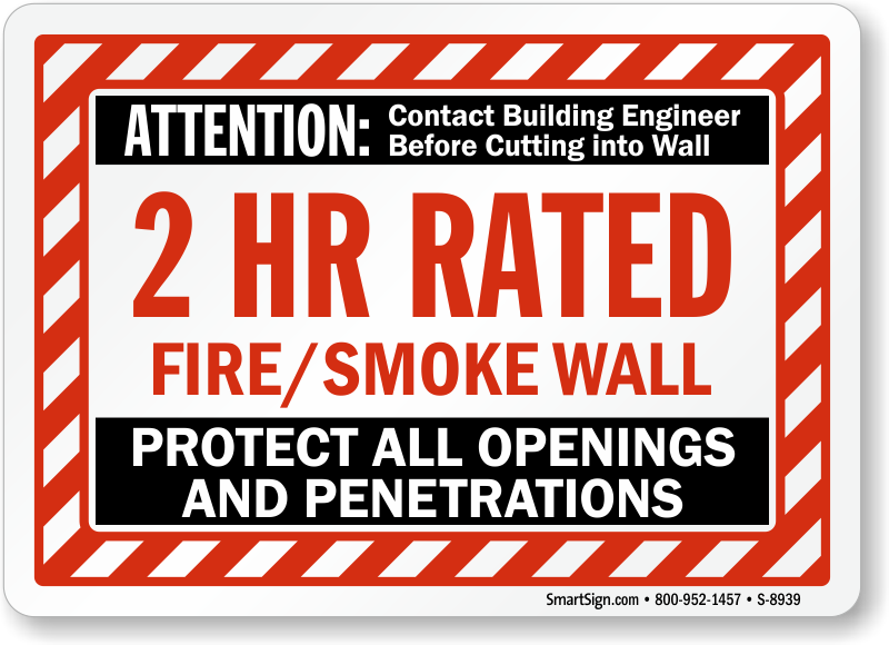 Pictures penetration in fire-rated wall