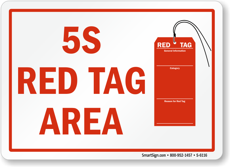 5s Red Tag Signs Non Conforming Material Signs