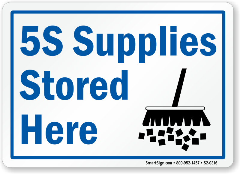 5S Supplies Stored Here Sign