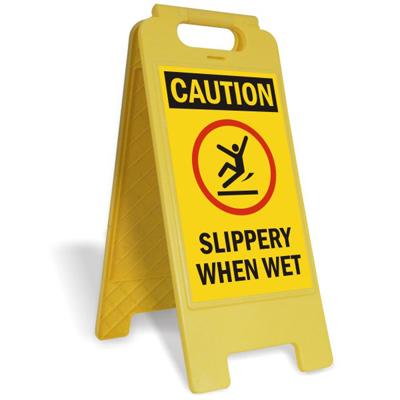 Slippery When Wet Fold Ups Floor Sign Fairly Priced Sku