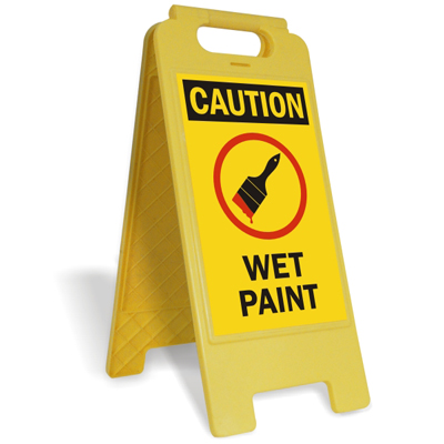 Wet Paint Signs Amp Tags Wet Paint Warning Signs