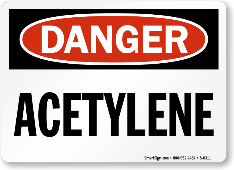 Acetylene Signs Acetylene Safety Signs