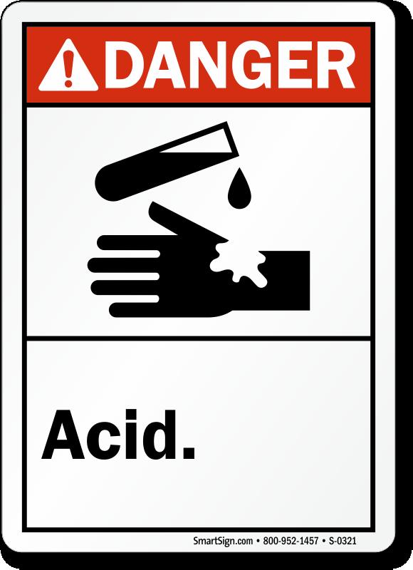 Acid Signs Acid Warning Signs Mysafetysign Com