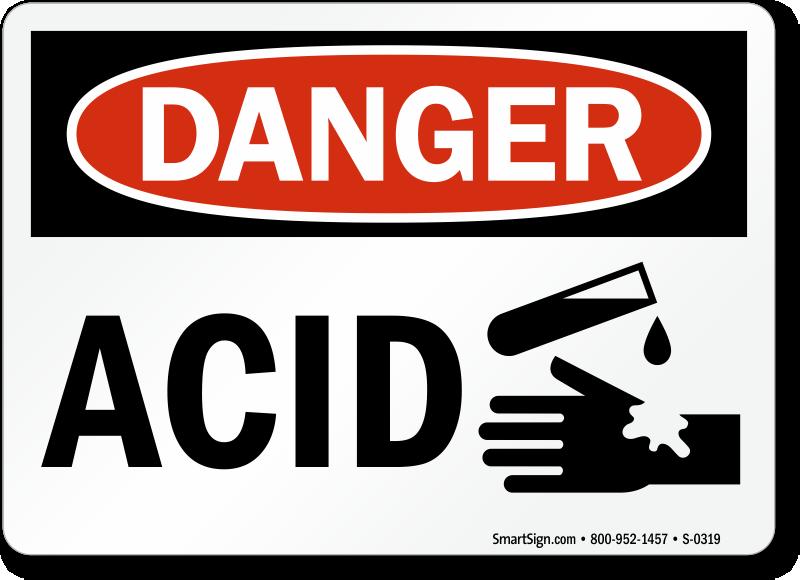 Acid Signs Acid Warning Signs Mysafetysign