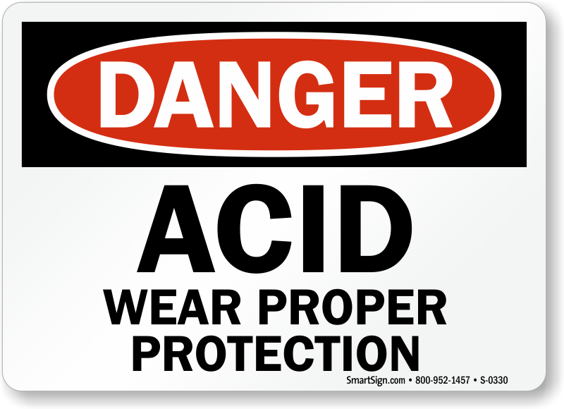 Acid Signs Acid Warning Signs Mysafetysign Com