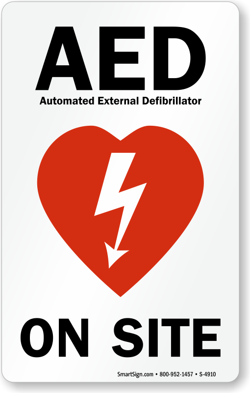 Aed On Site With Graphic Sign Sku S 4910 Mysafetysign Com