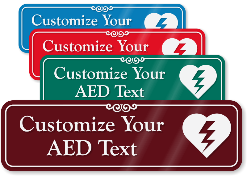 AED Stickers & Labels