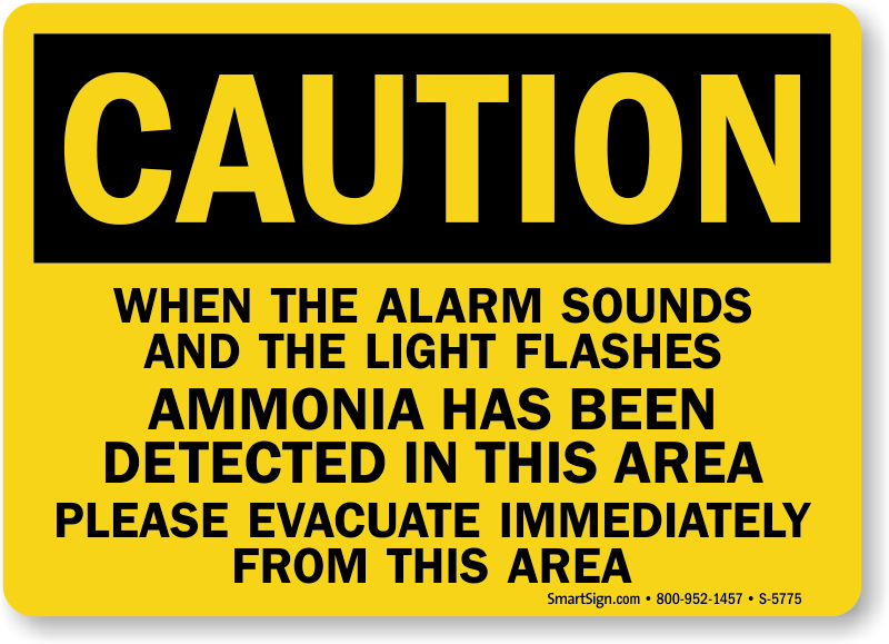Ammonia Signs Ammonia Warning Signs Mysafetysign Com