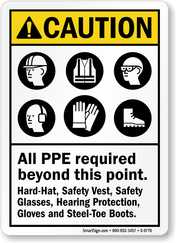 Ppe Signs Ppe Safety Sign Personal Protective