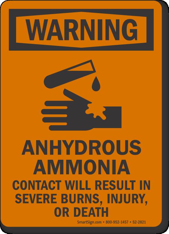 Ammonia Signs Ammonia Warning Signs Mysafetysign Com