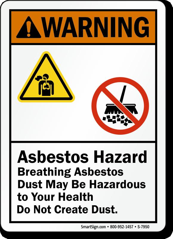 Breathing Asbestos Dust May Be Hazardous Sign