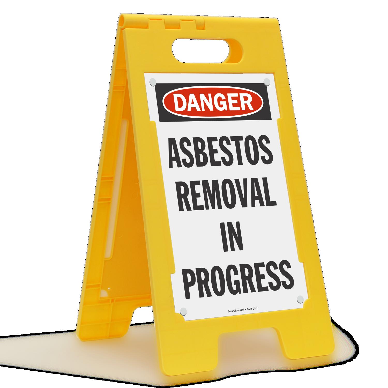 Asbestos Removal In Progress Free-Standing Floor Sign