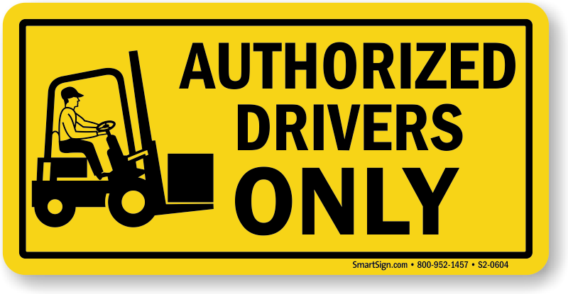 Certified Forklift Operator Signs - MySafetySign.com