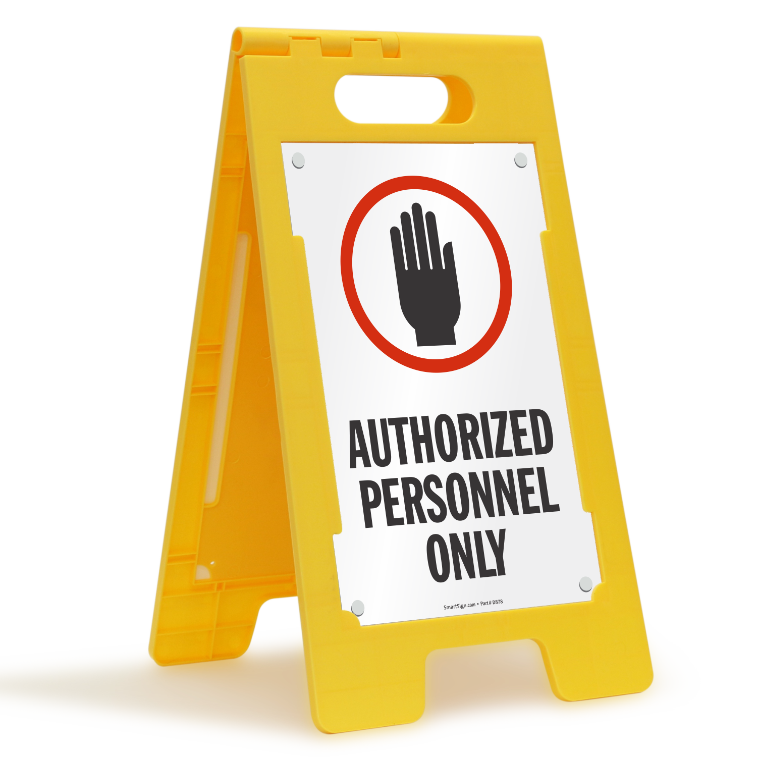 Authorized personnel only w graphic fold ups floor sign for Floor banner