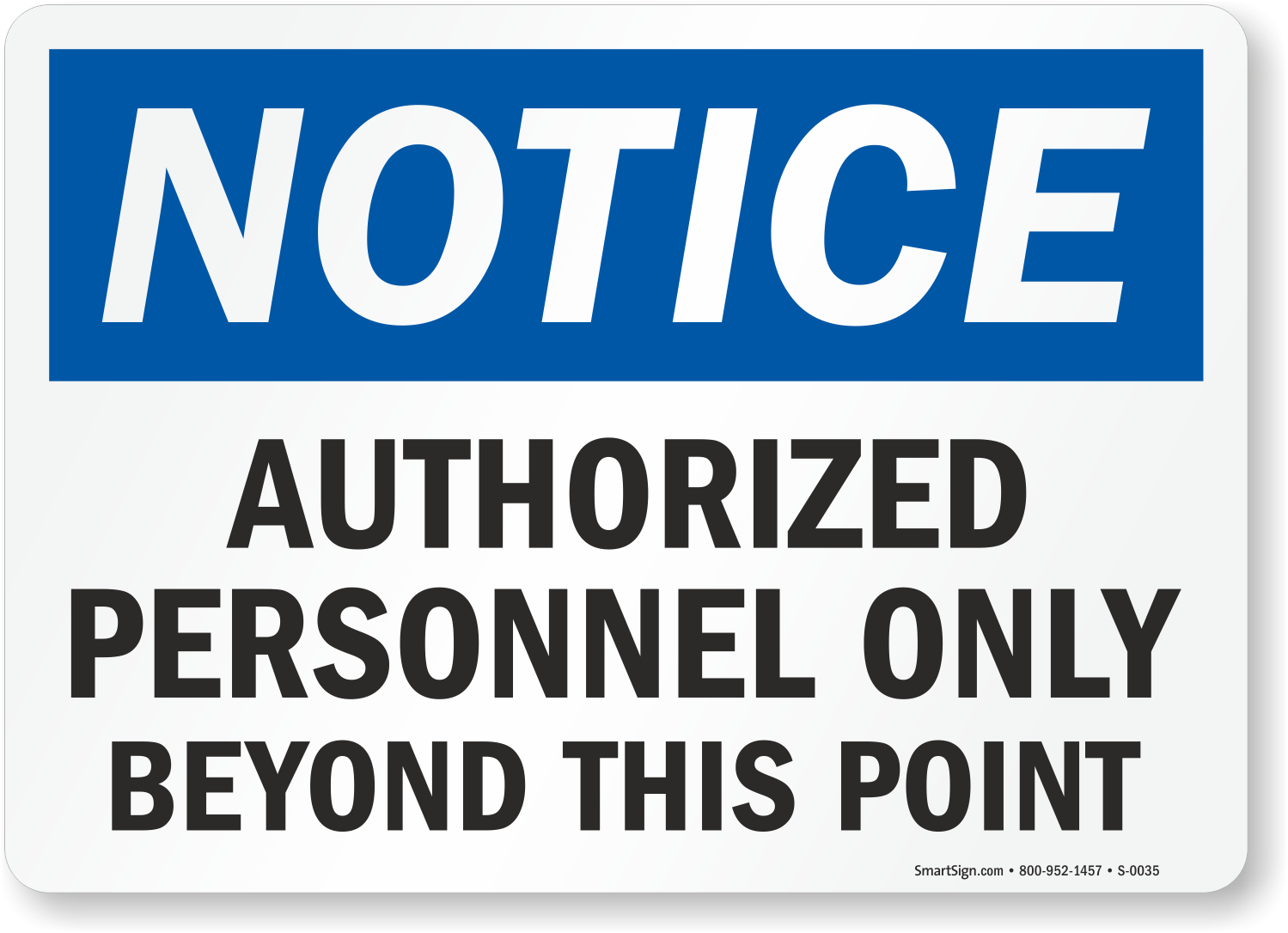 graphic relating to Authorized Personnel Only Sign Printable identified as Approved Staff members Merely Outside of this Place Indicator, SKU: S
