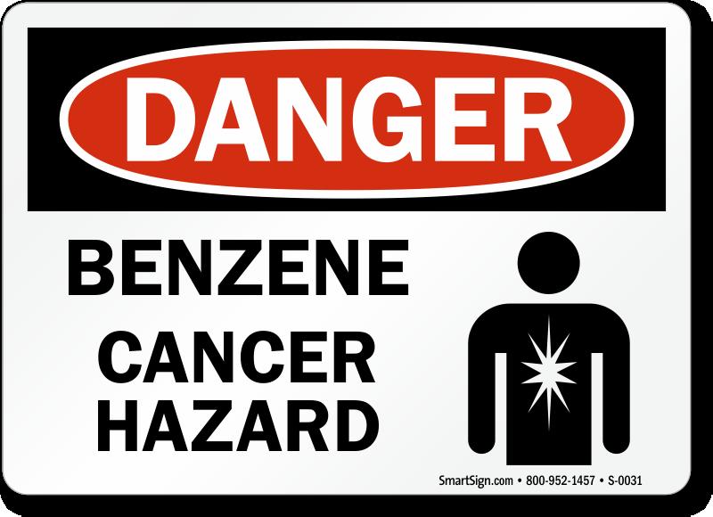Benzene Cancer Hazard Danger Sign