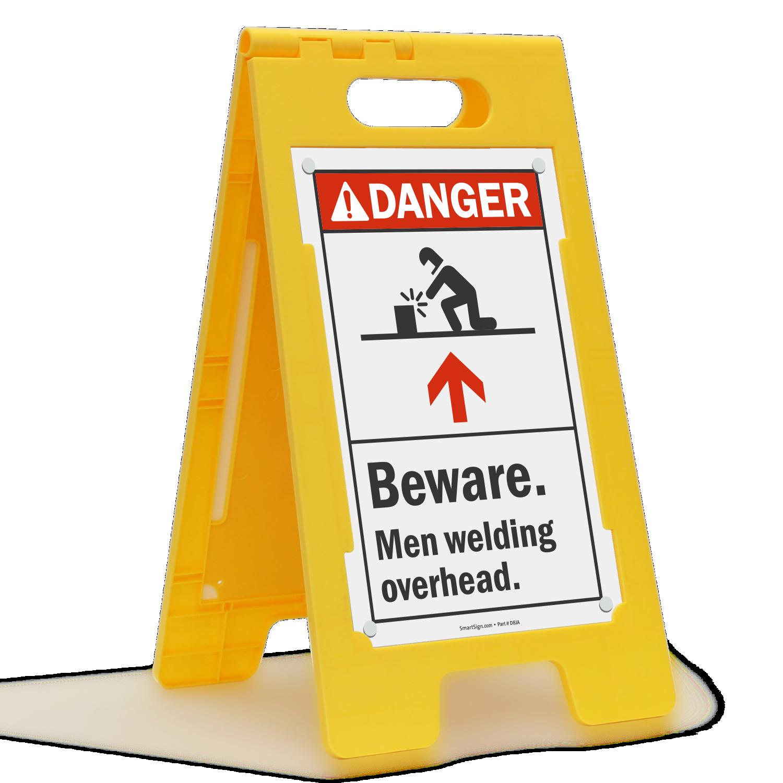 Beware Men Welding Overhead Danger Sign