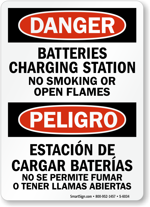 Battery Charging Area Signs Mysafetysign Com