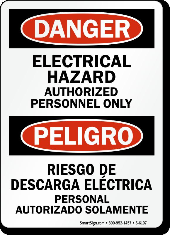 Electrical Hazard Signs Electrical Hazard Warning Signs