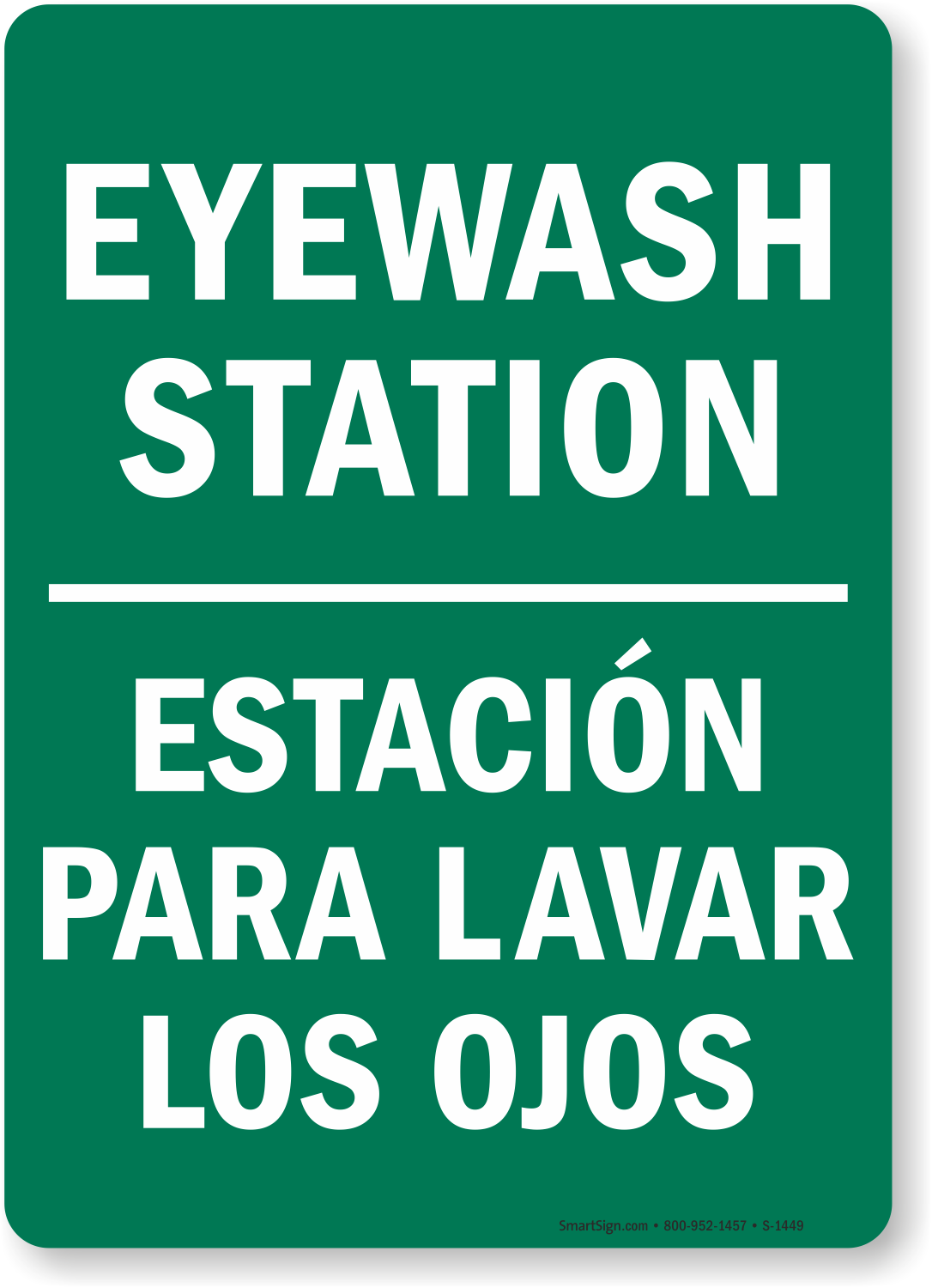 eyewash station sign bilingual - Eye Wash Station Osha