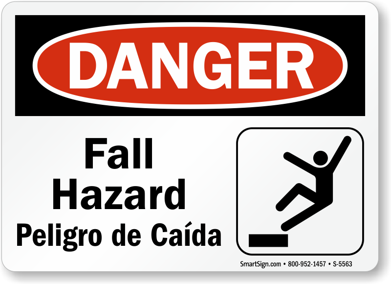 Fall Hazard Signs Trip Hazard Signs Free Shipping