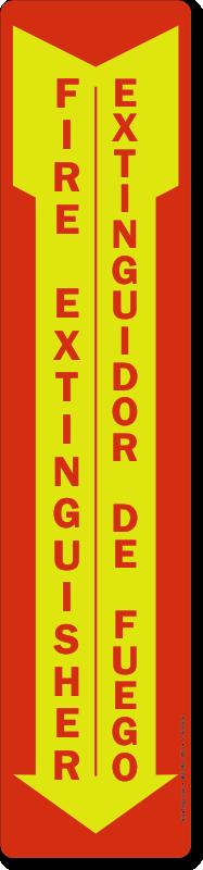 Glow Fire Extinguisher Extinguidor De Fuego Bilingual Sign