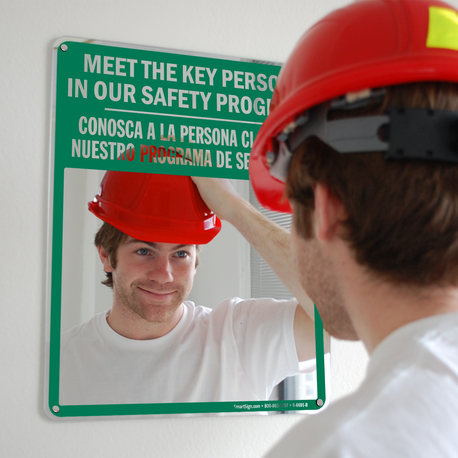 Meet The Key Person Bilingual Mirror Sign