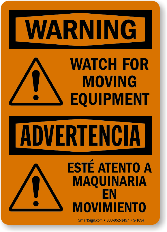 Machine Hazard Signs Machinery Hazard Signs