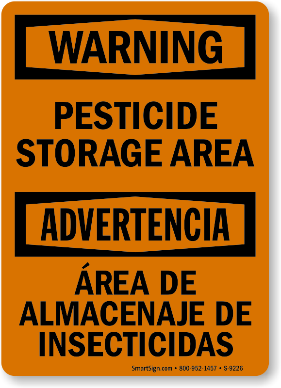 Pesticide Storage Signs Pesticide Storage Area Signs