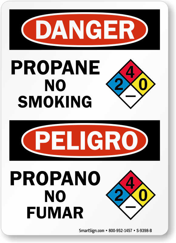 Propane Signs Propane Gas Cylinder Signs